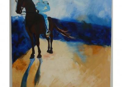Bandaged Rider and Horse
